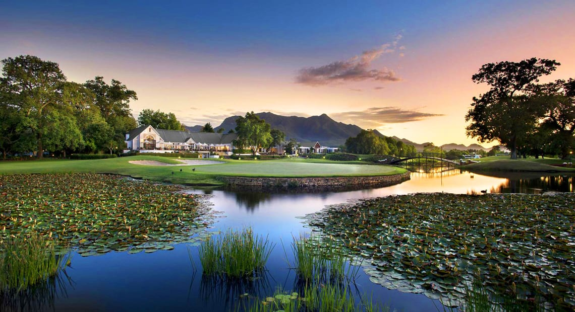Aerial view at the Fancourt Hotel in South Africa