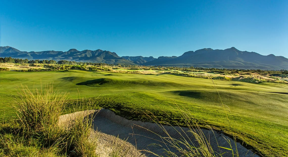 Golf course Montagu at the Fancourt Hotel in South Africa