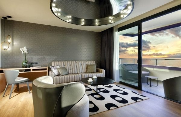Hard Rock Hotel Tenerife Living room with view