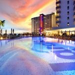 Little-Guest-Hotel-Collection-Hard-Rock-Hotel-Tenerife-Swimming-Pool-Sunset