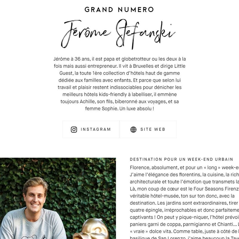 Little Guest Hotels Collection Grand Numéro Press Article Jerome Stefanski