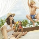Little Guest Hotels Collection Hard Rock Hotel Tenerife Happy Family Outside Bed Terrace