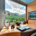Tschuggen Grand Hotel  Desk Room Mountain View