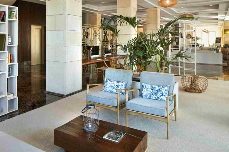 Lobby at Anantara Vilamoura Algarve Resort in Portugal