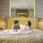 Children in bed at Nickelodeon Hotels & Resorts Punta Cana