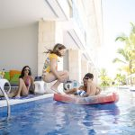 Private terrace with direct access to pool at Nickelodeon Hotels & Resorts Punta Cana