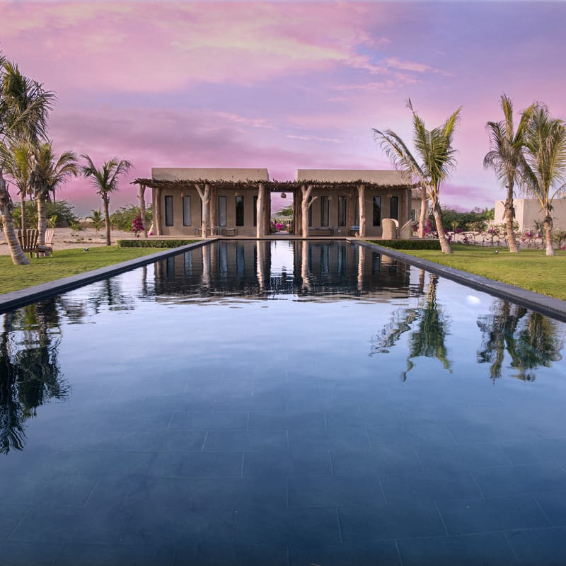 The superb Patrick's Lodge hotel in Senegal