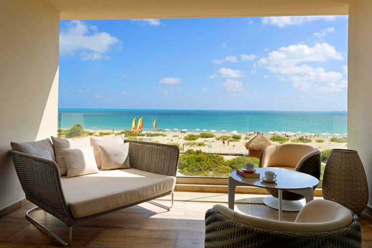 Amazing terrace with beach view at Grand Palladium Costa Mujeres Resort & Spa