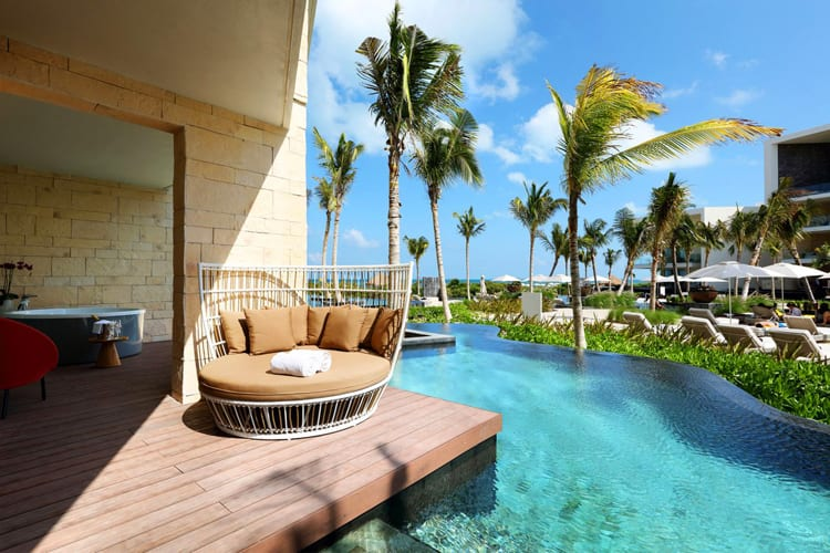 Terrace on the pool at Grand Palladium Costa Mujeres Resort & Spa
