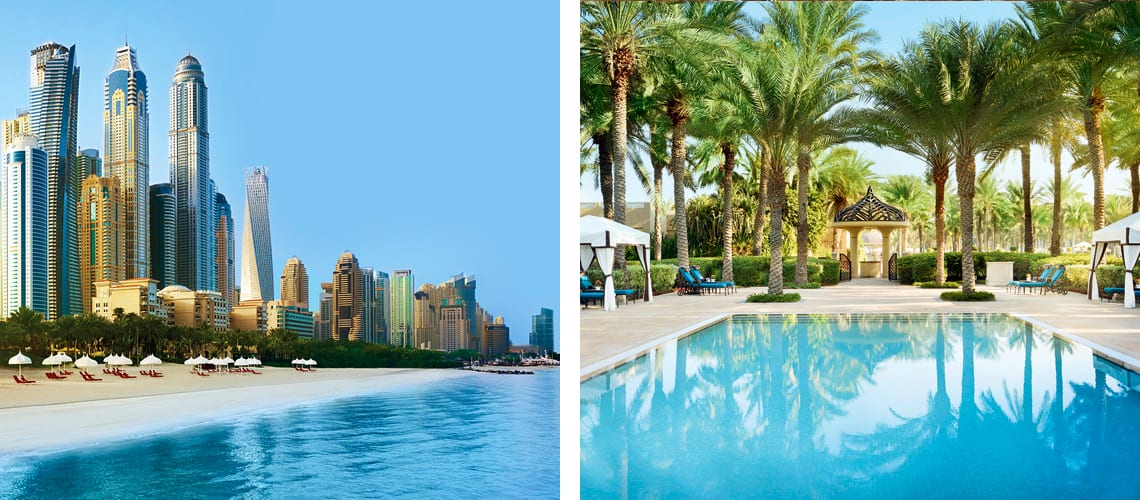 The amazing outdoor pool at One & Only Royal Mirage hotel in Dubai