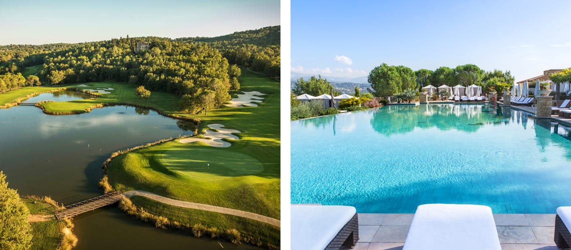 Le Chateau and Le Riou golf courses and Terre Blanche Hotel in France