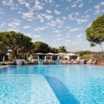 EPIC SANA Algarve swimming pool with blue sky