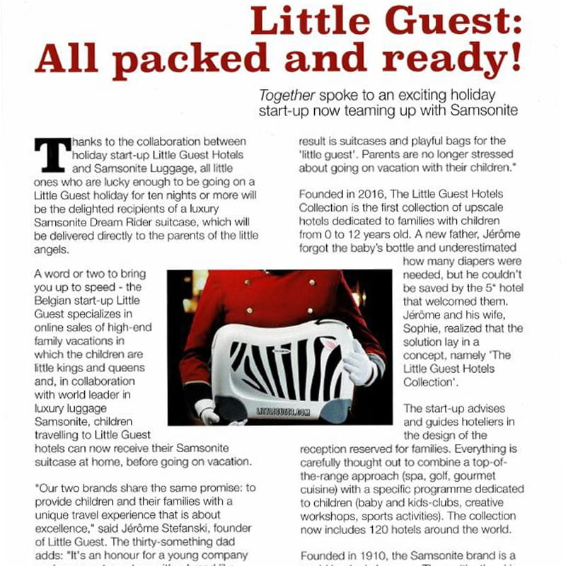 Little Guest Hotels Collection Together Magazine Article