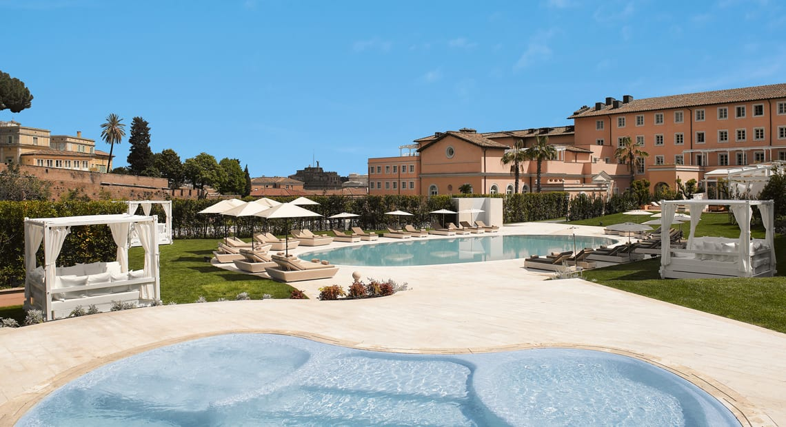 Outdoor pool at Gran Melia Rome Villa Agrippina in Italy