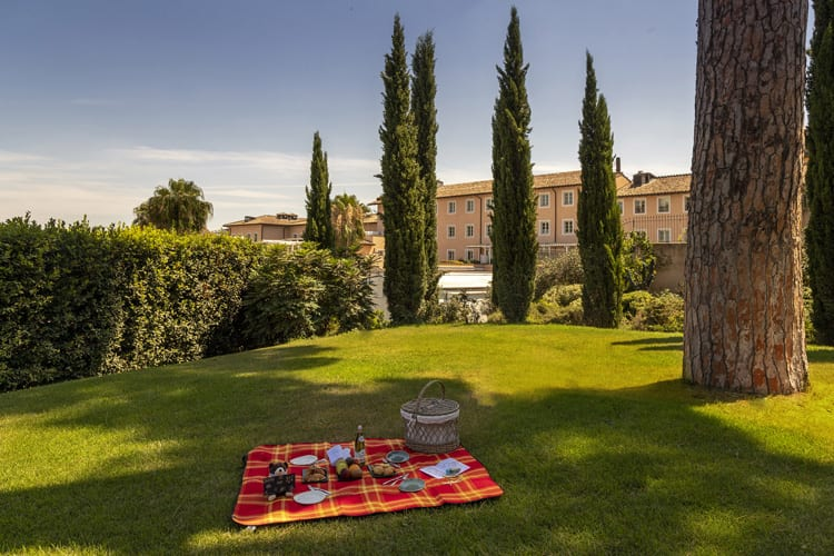 Garden at Gran Melia Rome Villa Agrippina in Italy