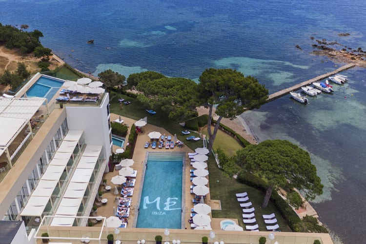 Little Guest Hotels Collection ME Ibiza Aerial View Swimming Pool Sea