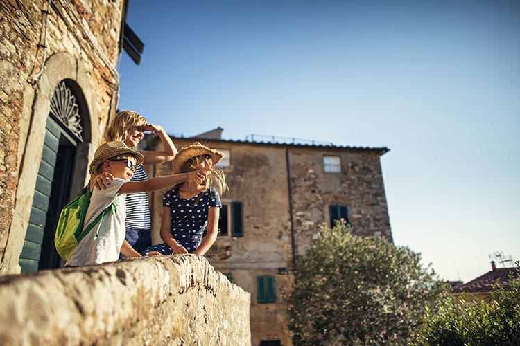 A family visiting Biot Provence France