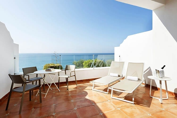 Palladium Hotel Costa del Sol Terrace with sea view
