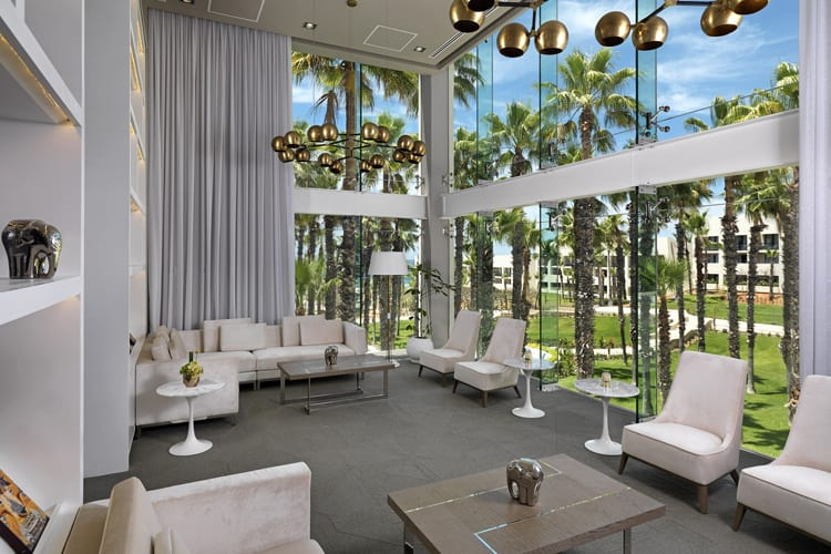 Lobby at Paradisus Los Cabos Resort in Mexico