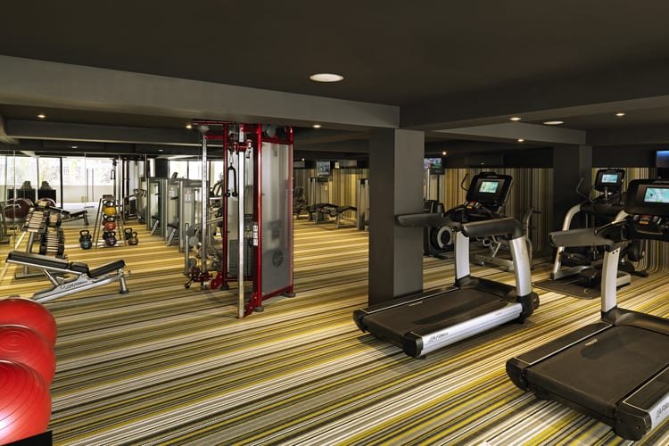 Fitness room at Paradisus Los Cabos in Mexico