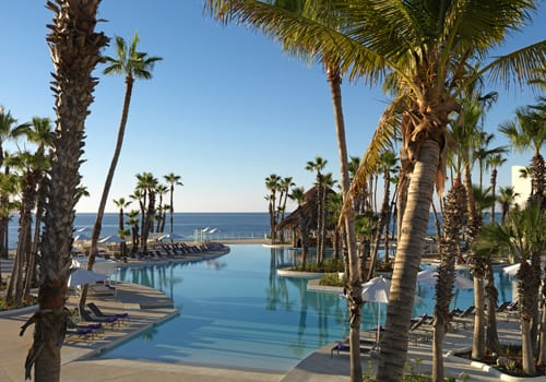 Outdoor pool at Paradisus Los Cabos Resort in Mexico