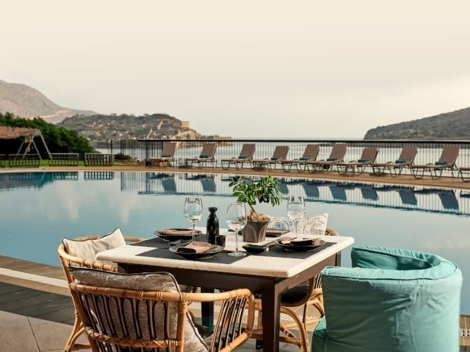Dinner by the pool Domes of Elounda