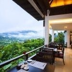 Panviman Resort Koh Phangan Restaurant with view on the landscape