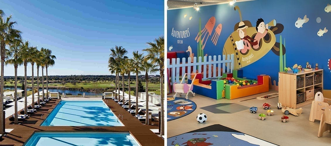 Pool and kids club at the Anantara Vilamoura Algarve Resort