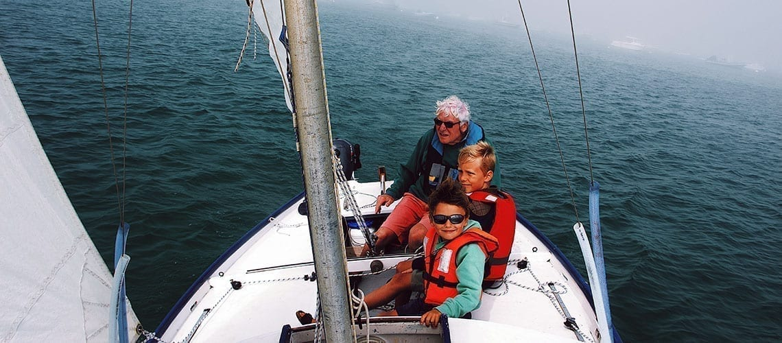 Boat trip with children