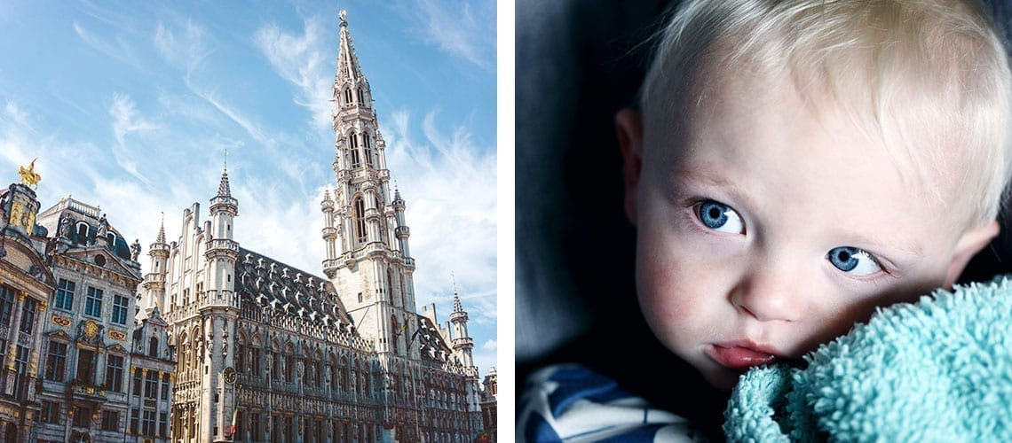 Grand Place Brussels and Baby