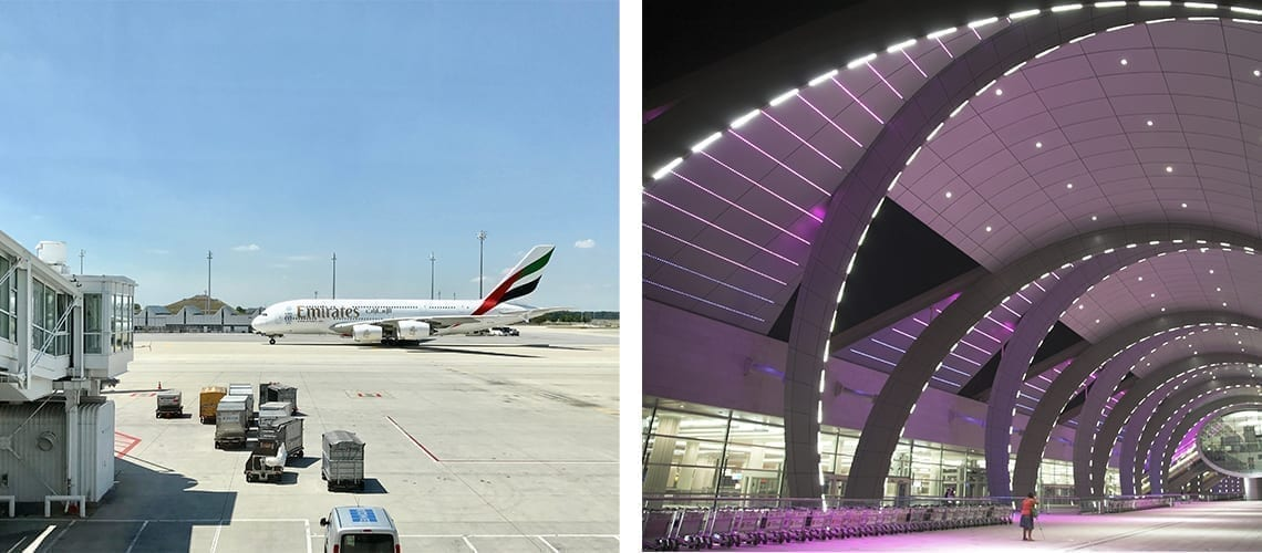 dubai terminal and plane emirates