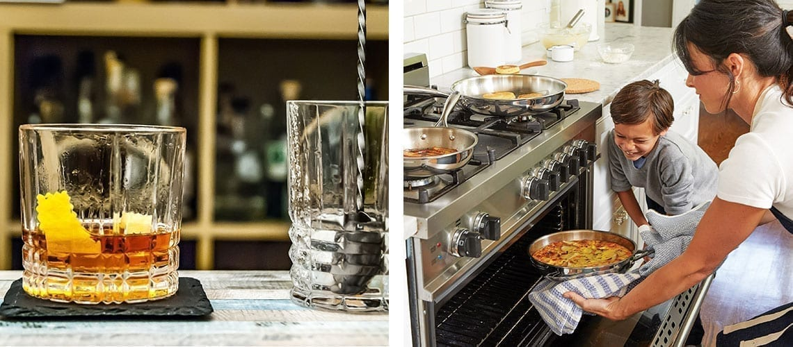 glass rhum cooking family