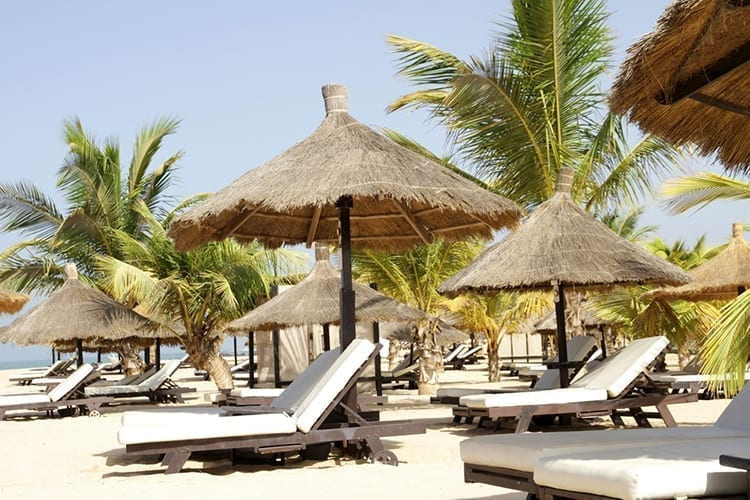 Le Lamantin Beach Resort & Spa Beach Deckchairs