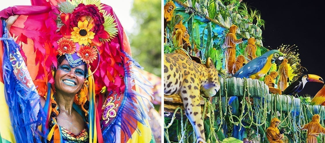 The most beautiful carnivals Rio Brazil