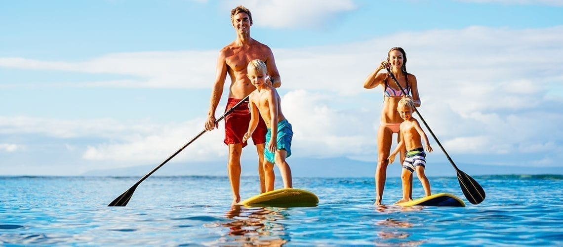 Family paddle board