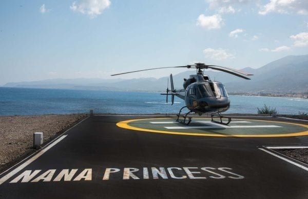 Direct helicopter access of Nana Princess Suites & Villas