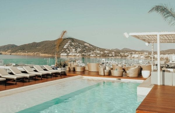 Aguas de Ibiza Grand Luxe Hotel pool with a view