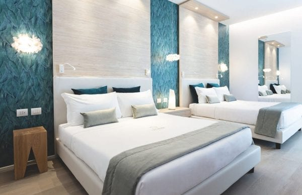 The Sense Experience Resort Blue and white bedroom
