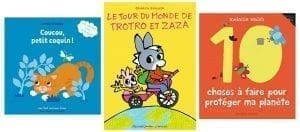 Selection of books for young kids from 0 to 3 years old