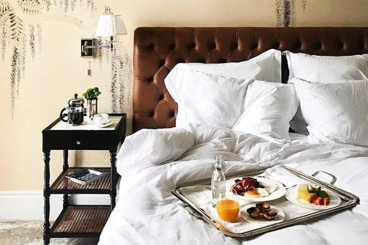 Breakfast in bed at Vidago Palace Hotel