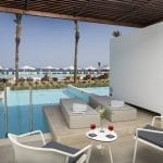 Private suite with terrace, pool and sea view at Gennadi Grand Resort