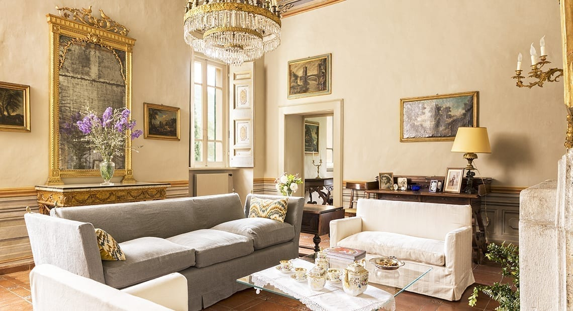 Villa Matilda Umbria living room