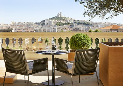 View on Marseille from the Intercontinental hotel