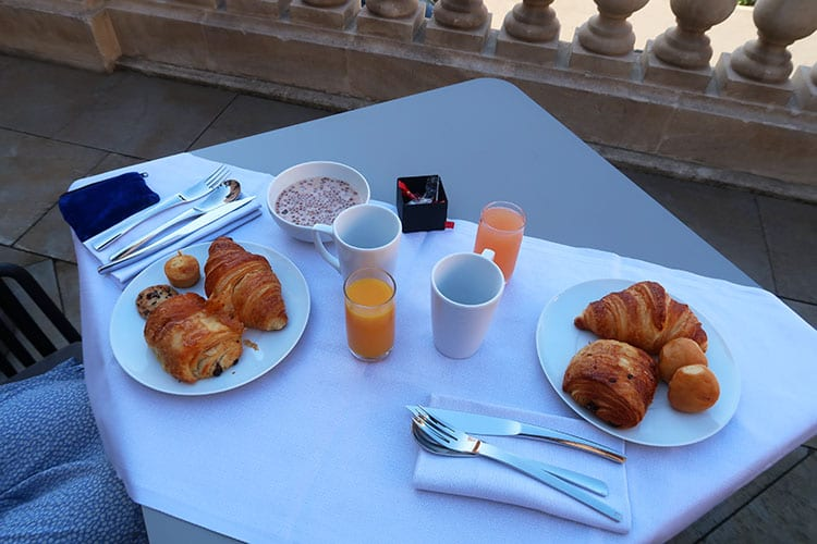 Intercontinental Marseille breakfast