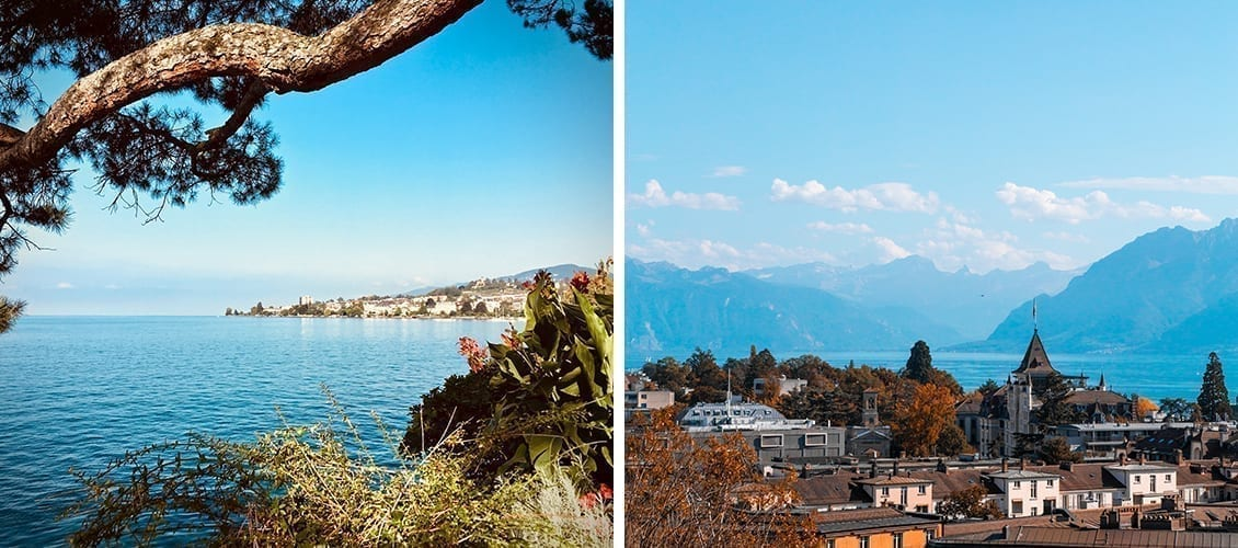 Montreux and Lausanne in Switzerland