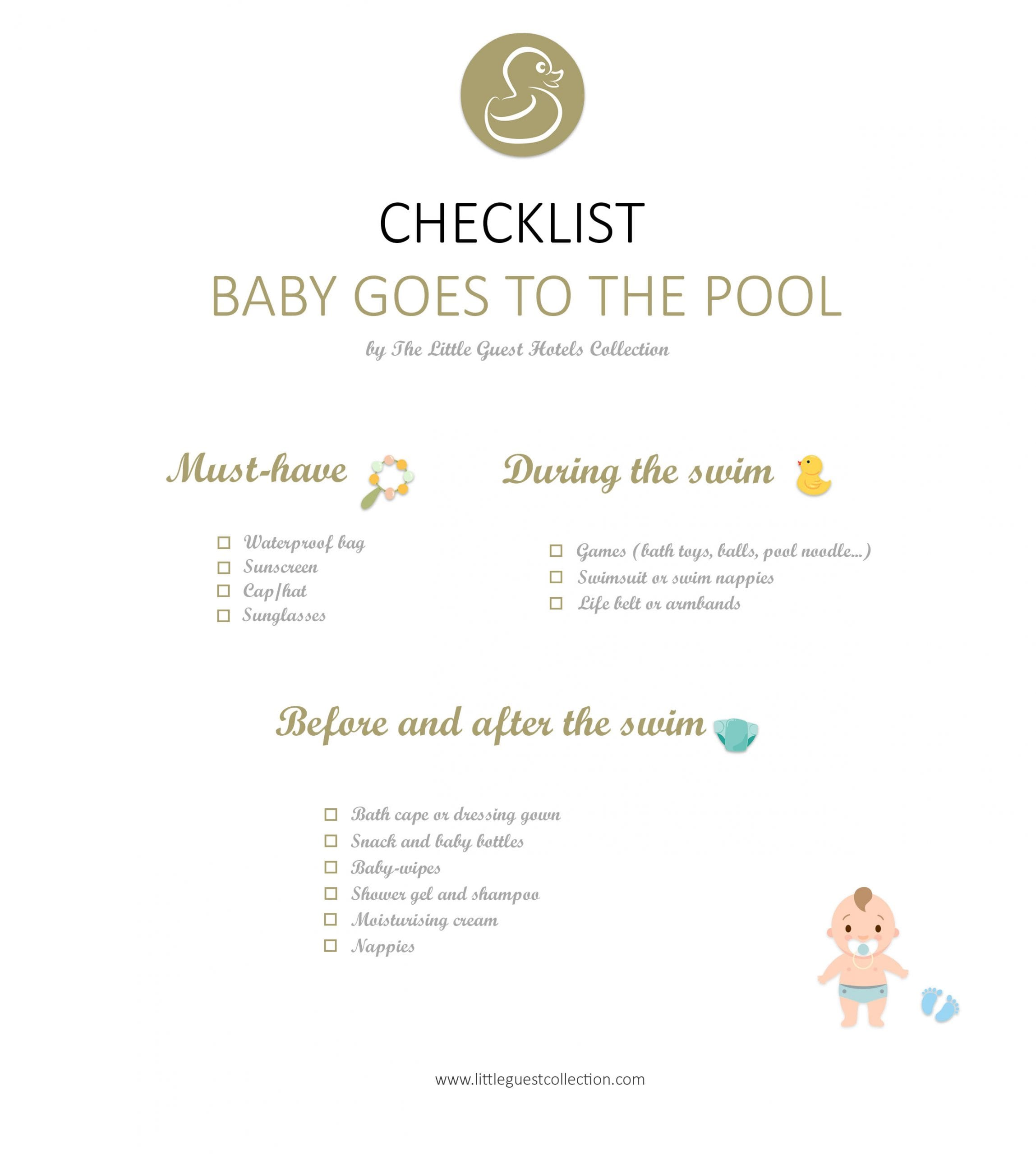 Things you should take to the pool for your baby