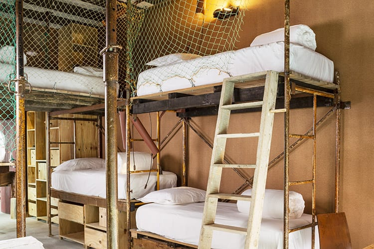 Bunk beds at Noah Surf House