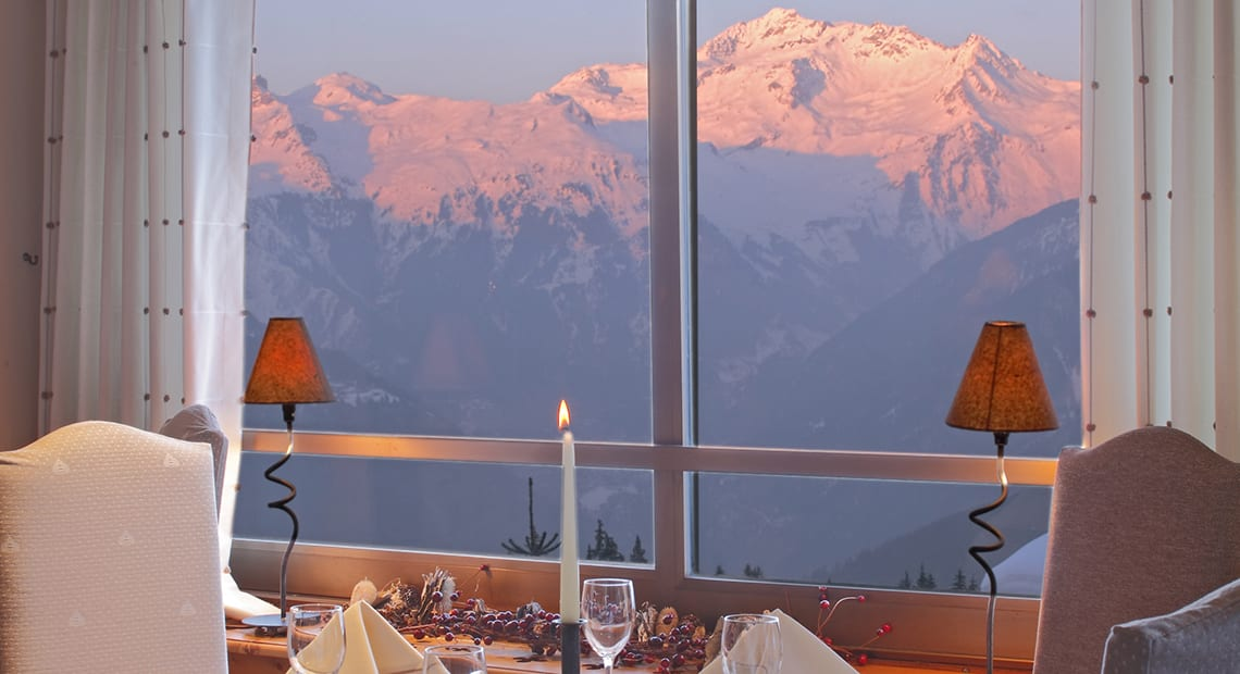 Grand Hotel Courchevel Dinner view