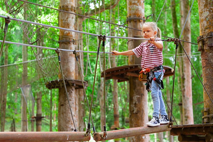 vallon de valrugues treetop park adventure